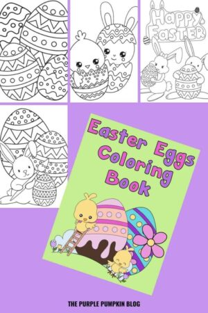 22-Page Easter Eggs Coloring Book (Print-at-Home)