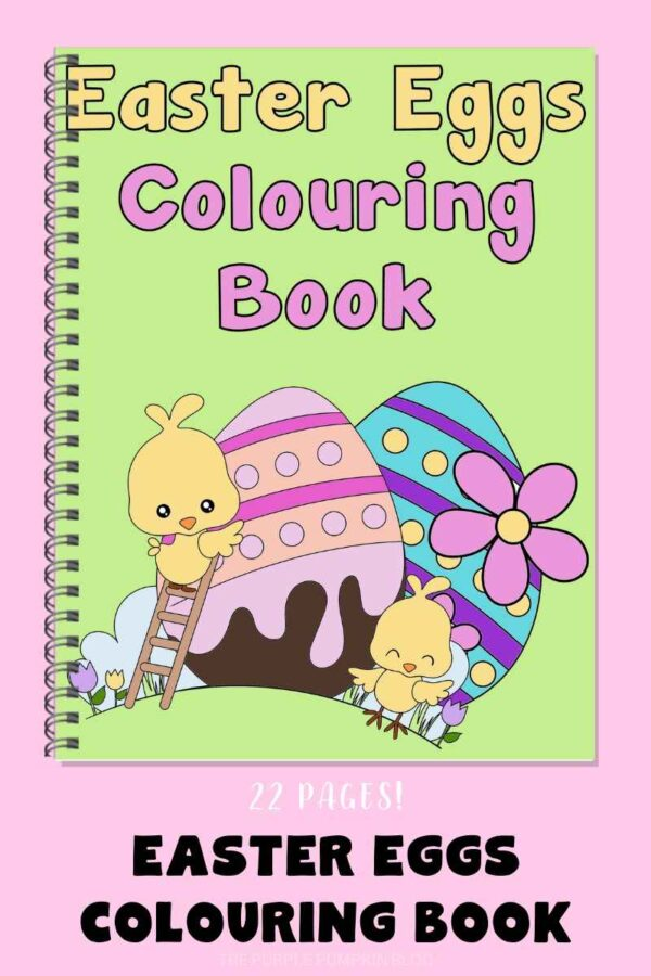 Easter Eggs Colouring Book 22 Colouring Pages