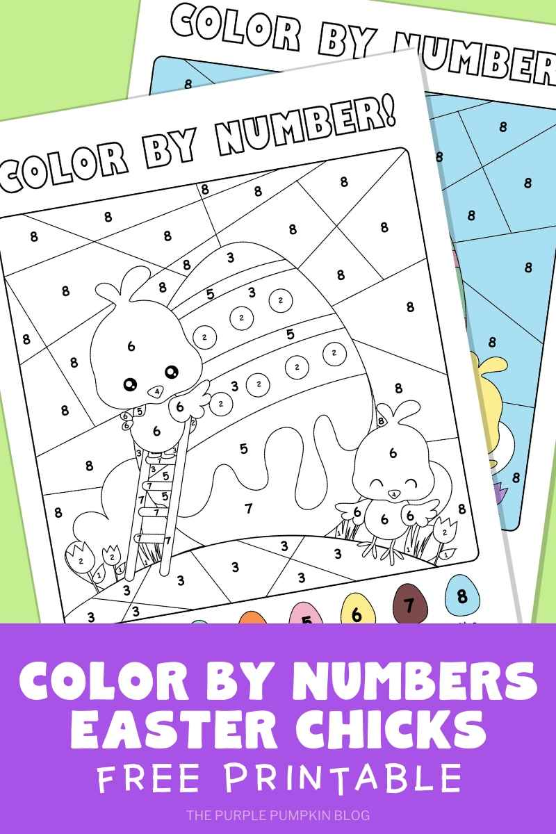 Easter Chicks & Egg Color By Numbers
