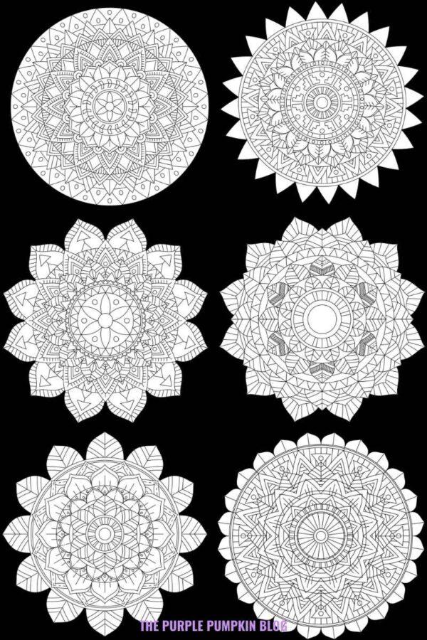 Free Printable Tribal Mandalas Set of 6