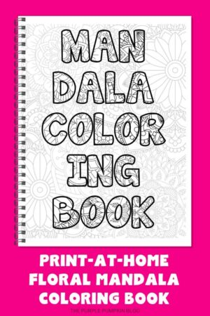 20-Page Floral Mandala Coloring Book (Print-at-Home)