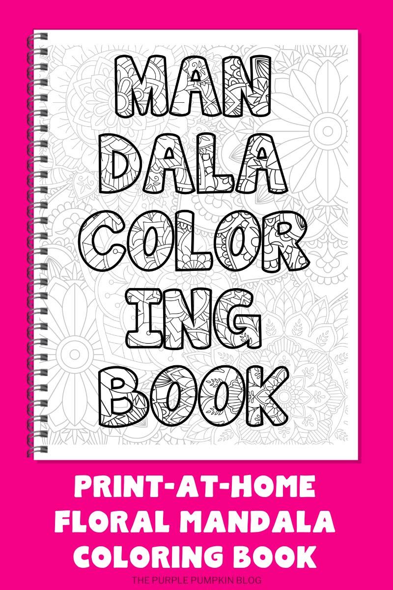 20-Page Floral Mandala Coloring Book (Print-at-Home)