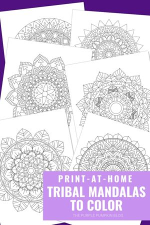6 Tribal Mandala Coloring Pages (Print-at-Home)