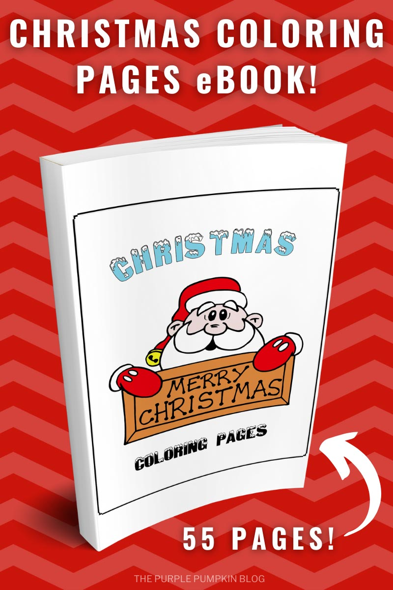 55 Page Christmas Coloring Pages Book! (Print-at-Home)