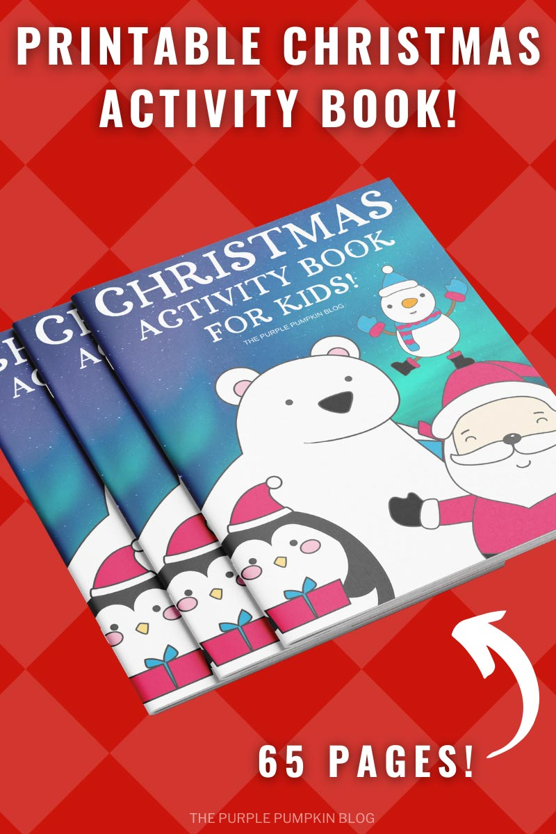 Print-at-Home 65 Page Christmas Activity Book for Kids