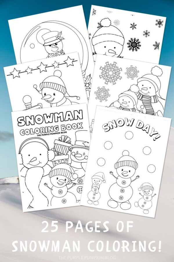 Snowman Coloring Book to Print - 25 Pages
