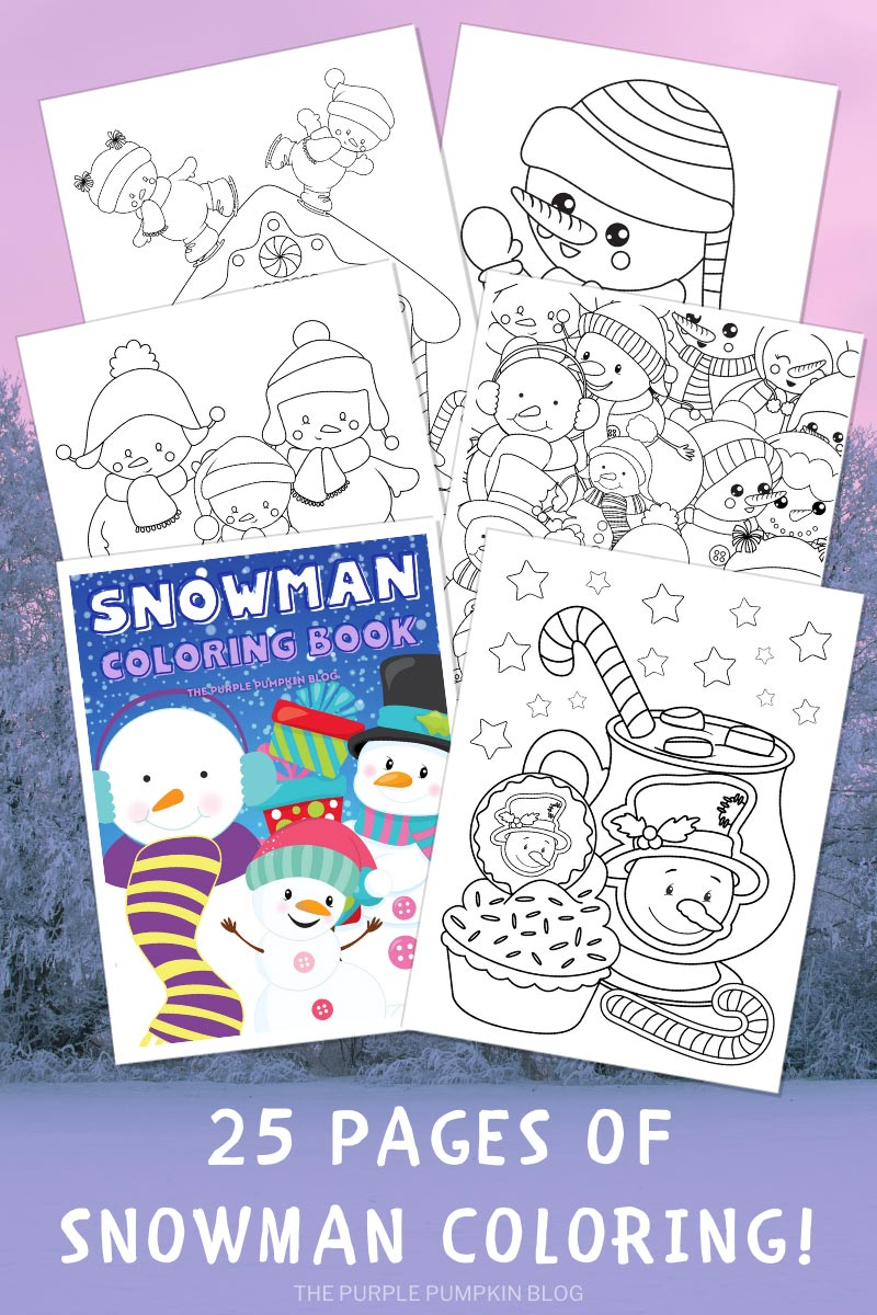 25-Page Snowman Coloring Book! (Print-at-Home)