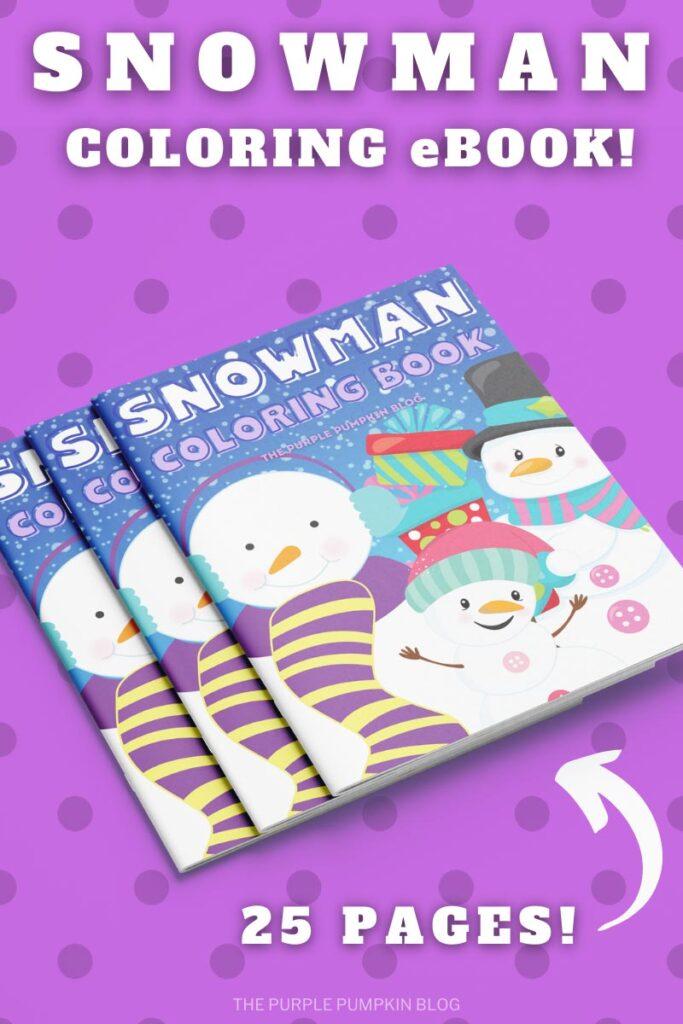 25 Page Snowman Coloring eBook!
