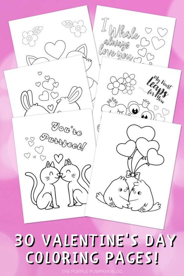 30 Valentine's Day Coloring Pages