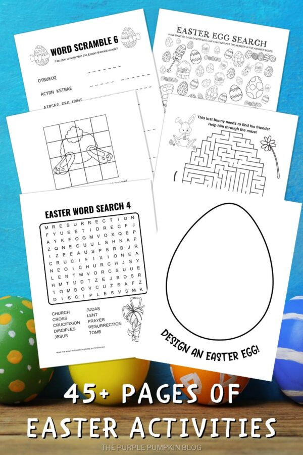 45 Pages of Easter Activities