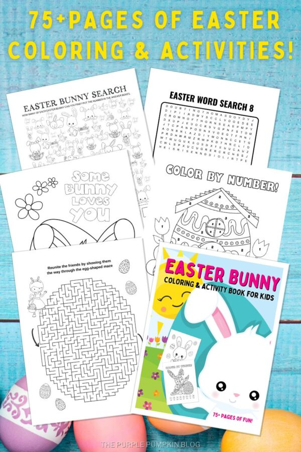 75 Pages of Easter Coloring & Activities