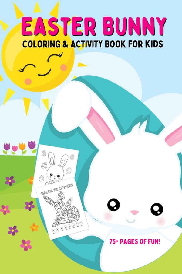 Easter Bunny Coloring & Activity Book for Kids Cover