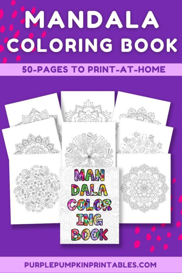 Mandala Coloring Book 50 Pages to Print-At-Home