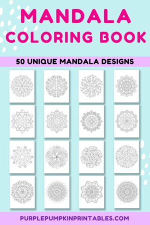 50-Page Mandala Coloring Book for Adults (Print-At-Home)