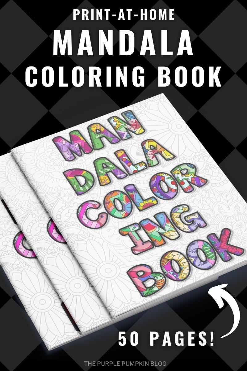 50-Page Mandala Coloring Book for Adults (Print-At-Home)