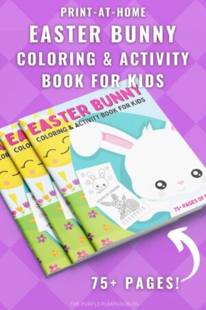 Print-at-Home 75+ Page Easter Bunny Coloring & Activity Book