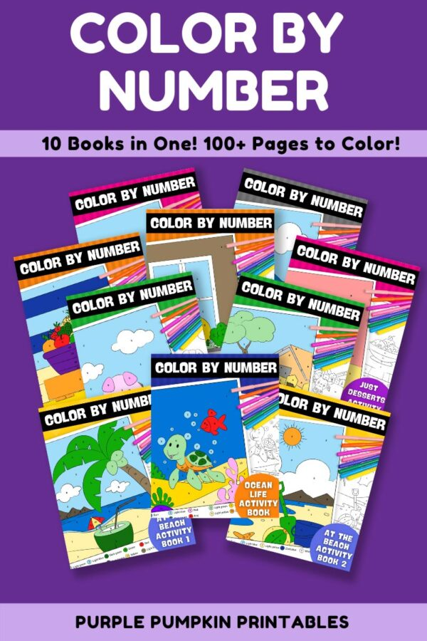 Color By Number - 10 Books In One