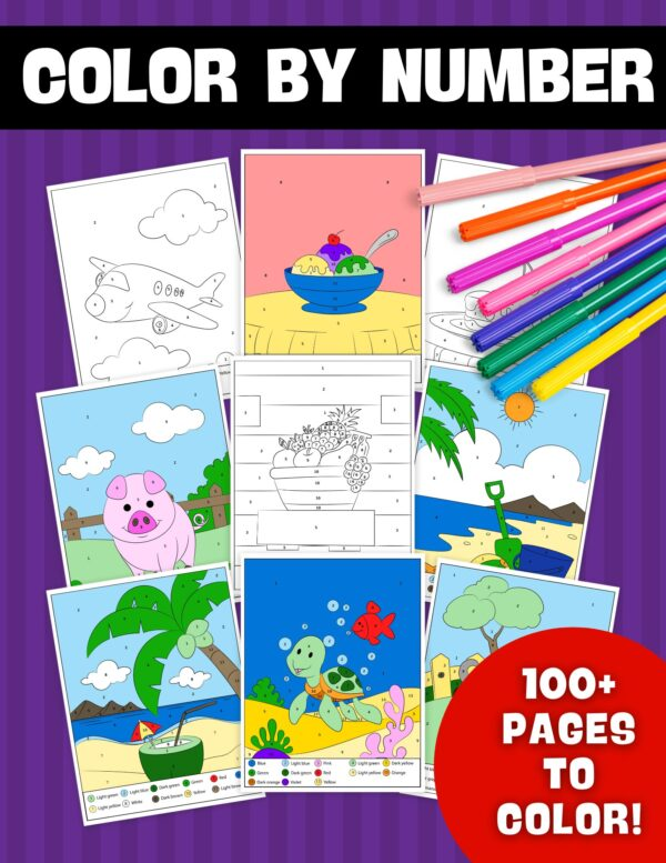 Color By Number - 100 Pages To Color