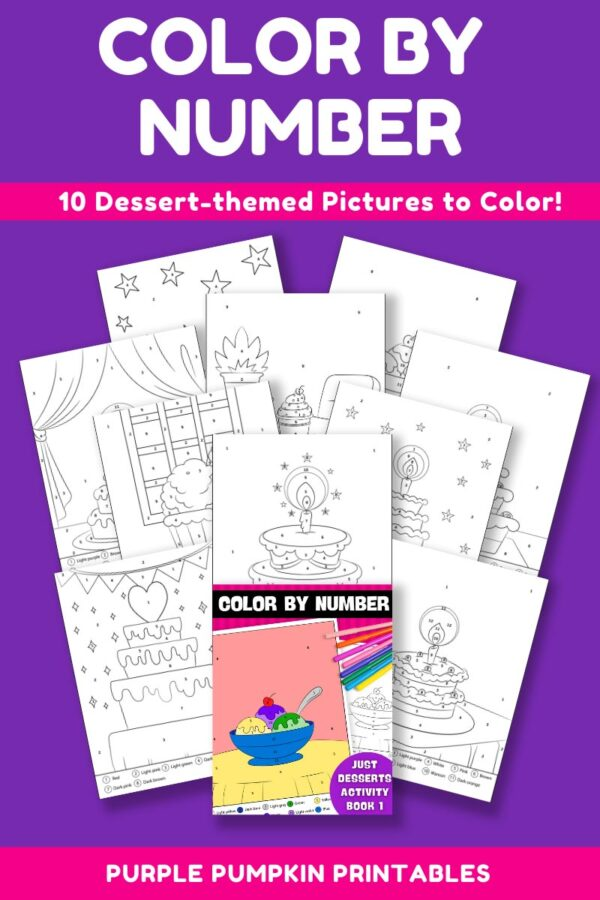 Color By Number Activity Book 1 - Just Desserts Pages