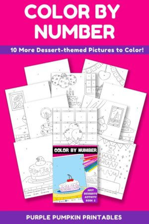 10-Page Color By Number Just Desserts Activity Book 2 (Print-at-Home)