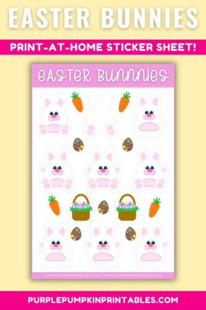 Easter Bunnies Print at Home Sticker Sheet