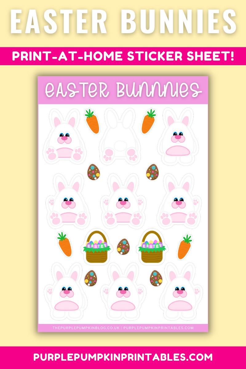 Digital & Printable Easter Bunnies Sticker Sheet