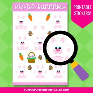 Digital & Printable Easter Bunnies Sticker Sheet