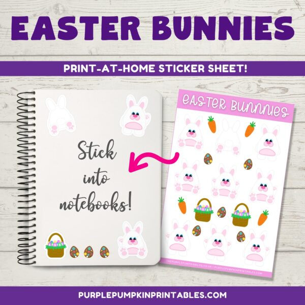 Easter Bunnies Stickers for Notebooks