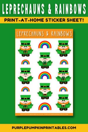 Leprechauns & Rainbows Sticker Sheet