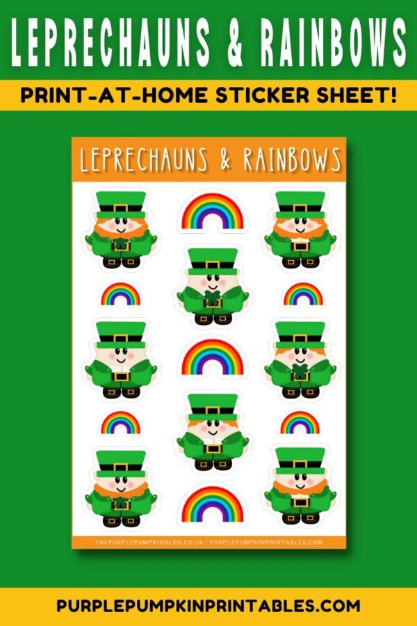 Leprechauns & Rainbows Sticker Sheet