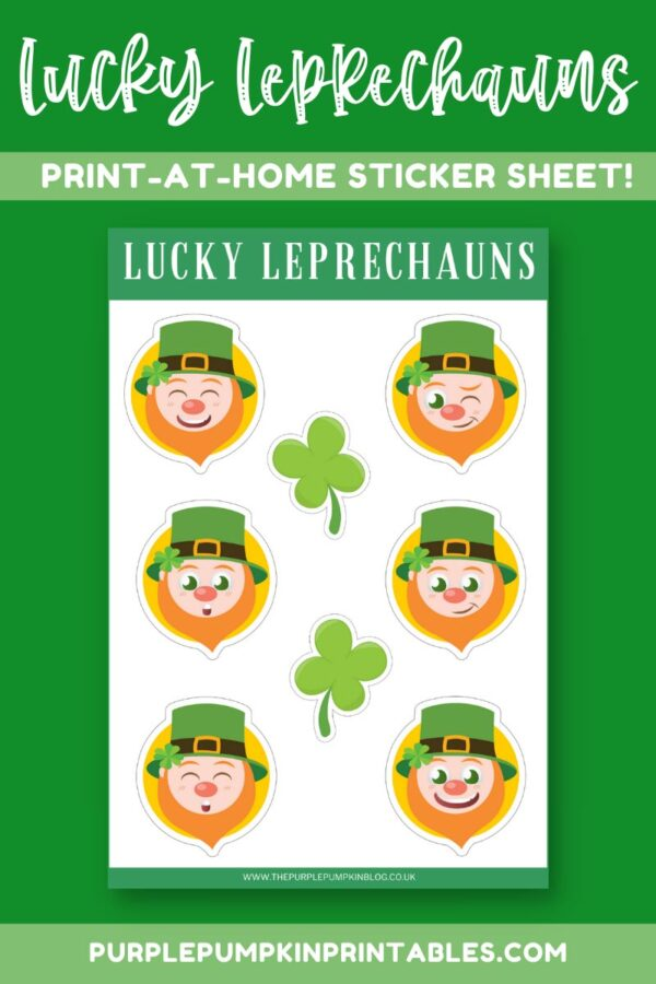 Lucky Leprechauns Print-at-Home Sticker Sheet