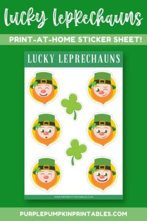 Digital & Printable Lucky Leprechaun Sticker Sheet