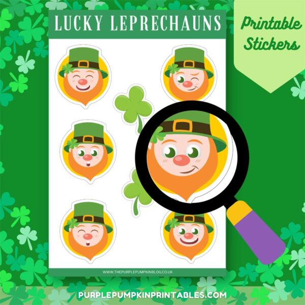 Lucky Leprechauns Printable Stickers