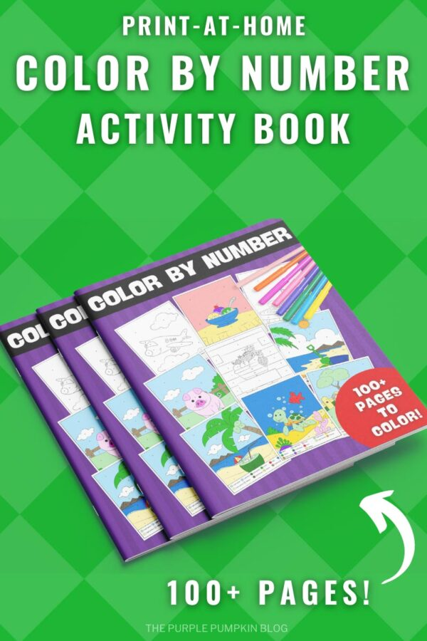 Bumper Color By Number Activity Book to Print at Home - 100+ Pages!