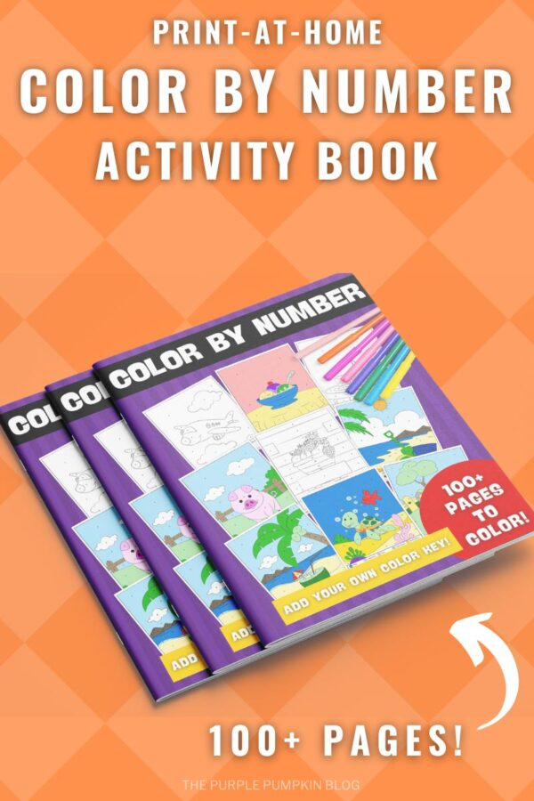 Bumper Color By Number Activity Book to Print at Home - 100+ Pages! Add Your Own Color Key!