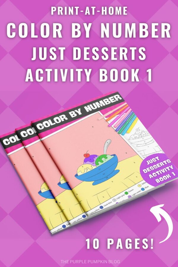 Print-at-Home Color By Number Just Desserts Activity Book 1