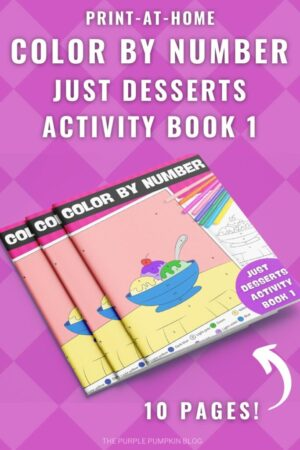 10-Page Color By Number Just Desserts Activity Book 1 (Print-at-Home)