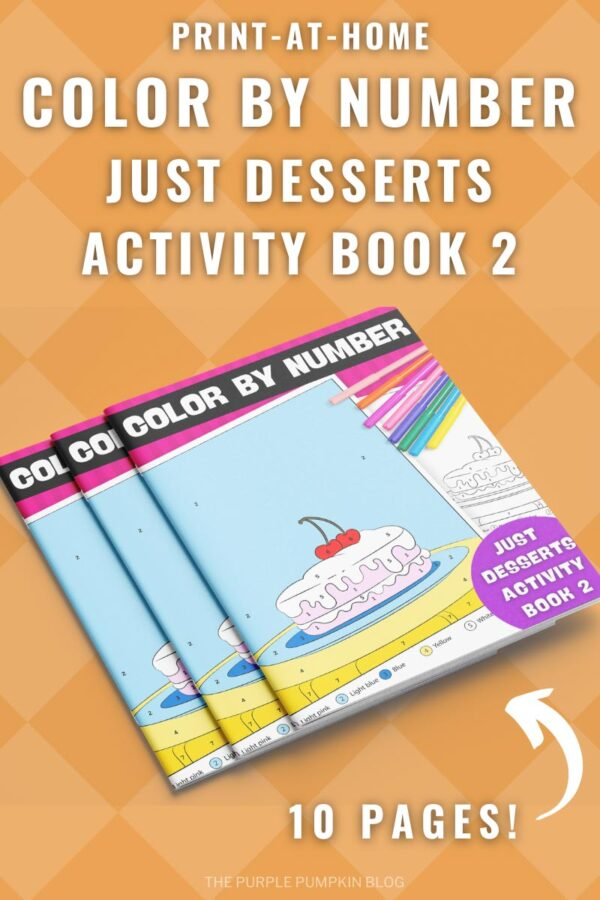 Print-at-Home Color By Number Just Desserts Activity Book 2