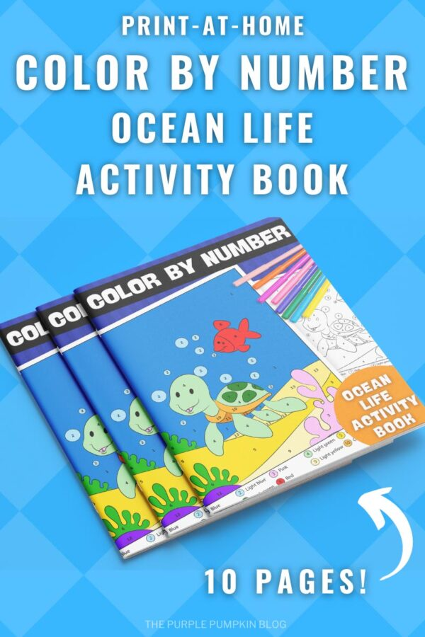 Print-at-Home Color By Number Ocean Life Activity Book