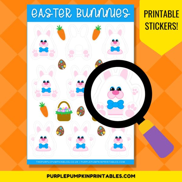 Printable Easter Bunny Stickers
