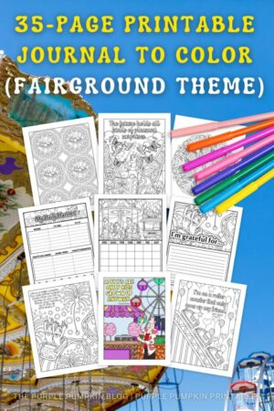 Fairground Themed Printable Journal To Color (Printable Planner)