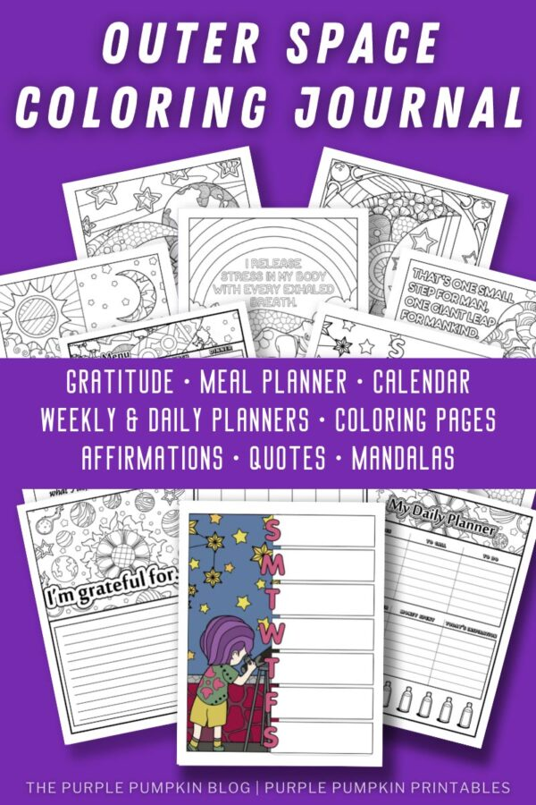 Outer Space Coloring Journal