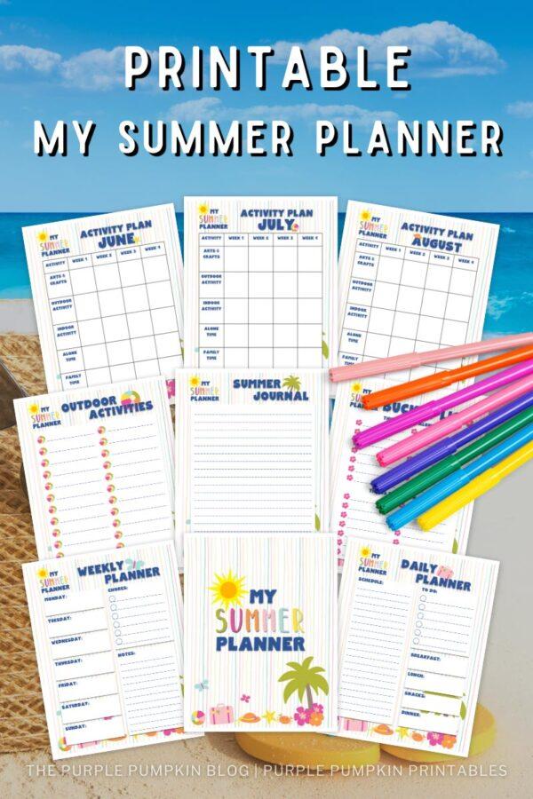 Printable My Summer Planner