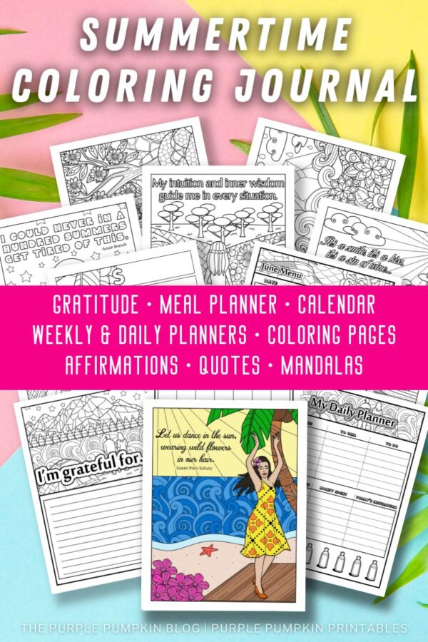 Summertime Coloring Journal to Print