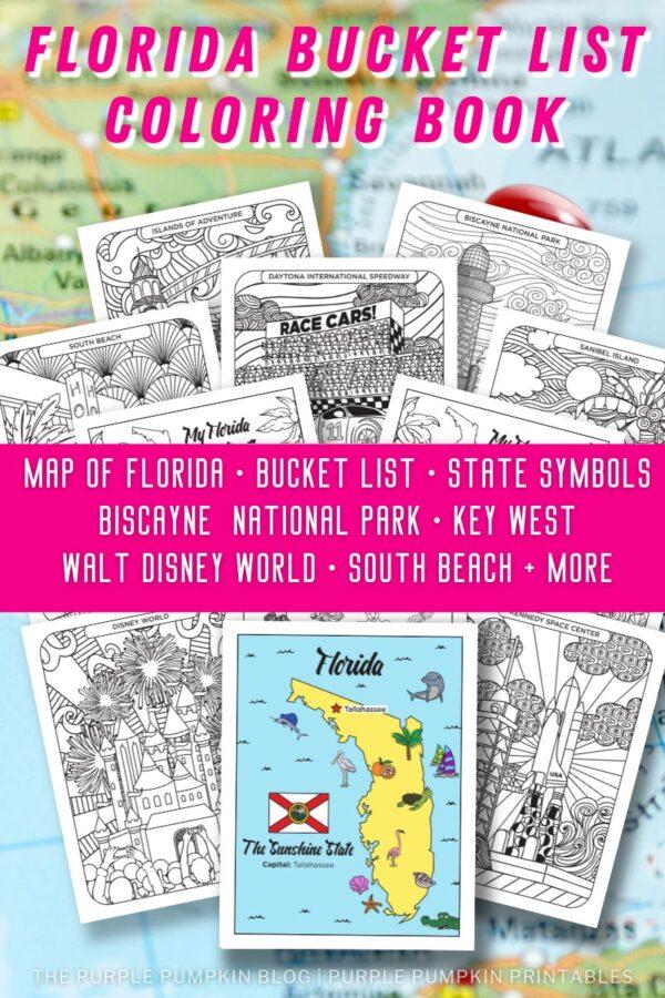 Florida Bucket List Coloring Book