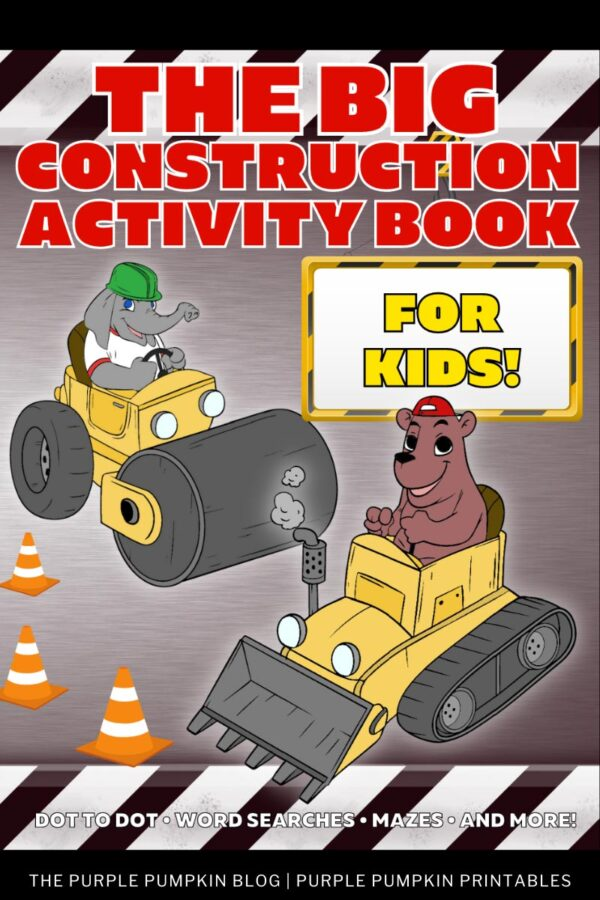 The Big Construction Activity Book For Kids